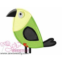 Feathered Friends-3 Applique Design