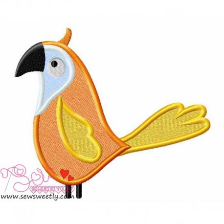Feathered Friends-4 Machine Applique Design For Kids