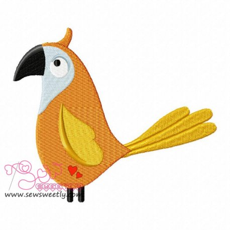 Feathered Friends-4 Embroidery Design For Kids