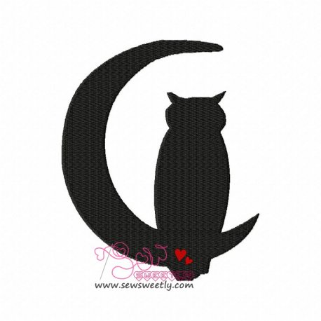 Owl Silhouette Embroidery Design For Kids