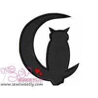 Owl Silhouette Applique Design