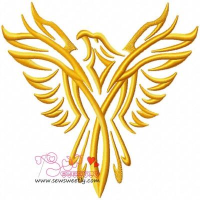 Phoenix-1 Embroidery Design