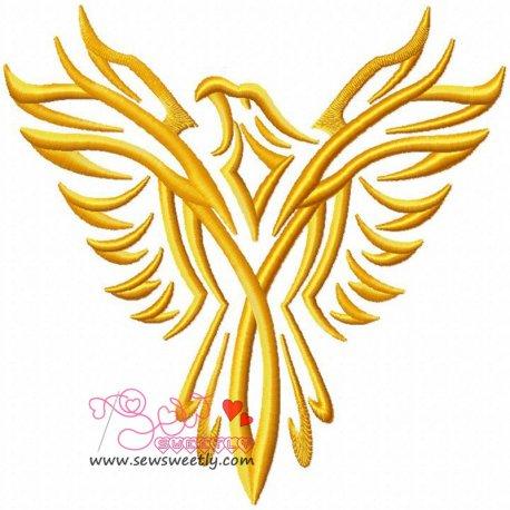 Phoenix-1 Embroidery Design Pattern- Category- Birds Designs- 1