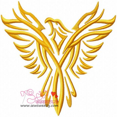 Phoenix-1 Embroidery Design For Kids