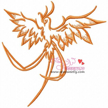 Phoenix-2 Embroidery Design For Kids