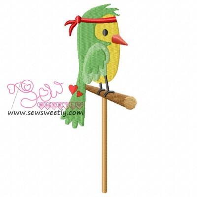 Pirate Bird Embroidery Design