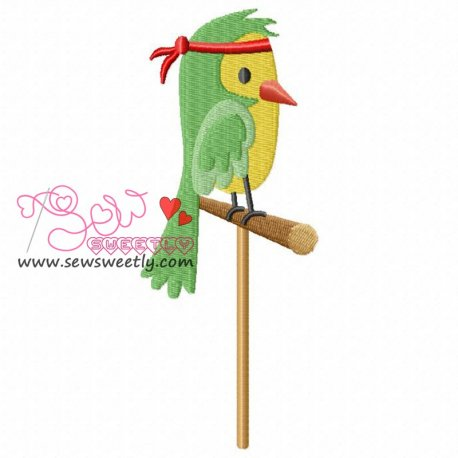 Pirate Bird Embroidery Design For Kids