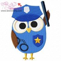 Profession Owl-1 Embroidery Design