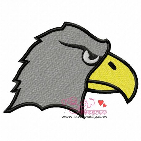 Eagle Face Embroidery Design For Kids