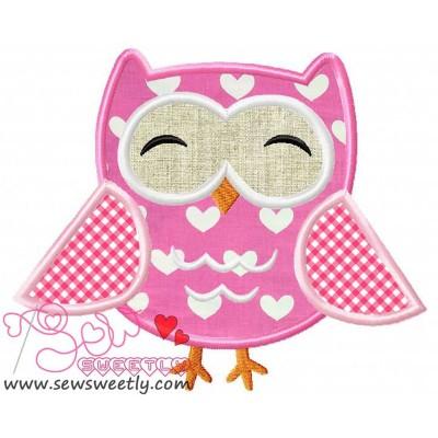 Mr.Owl Applique Design
