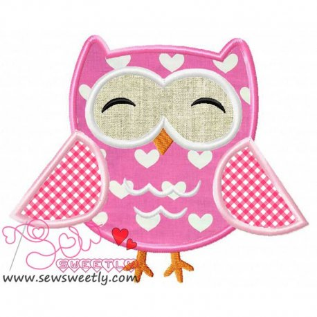 Mr.Owl Machine Applique Design For Kids