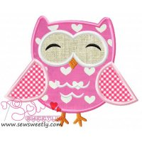 Mr.Owl Applique Design