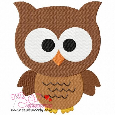 Forest Friends Owl Embroidery Design For Kids