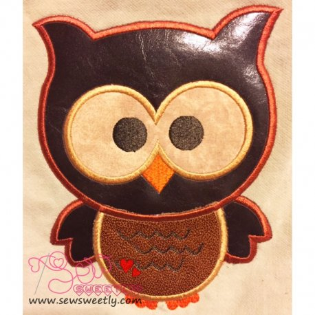 Forest Friends Owl Applique Design Pattern- Category- Birds Designs- 1