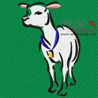 Cute Lamb Embroidery Design