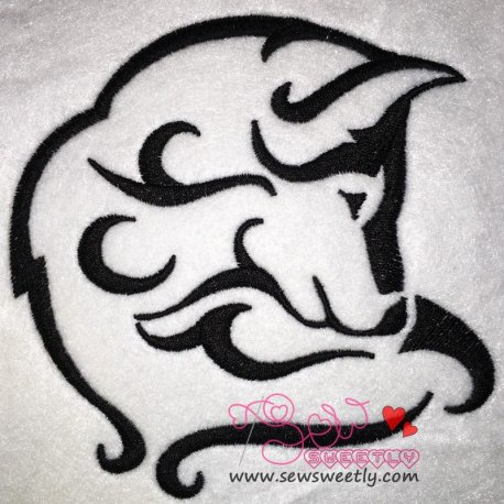 Wild Wolf-2 Embroidery Design Pattern- Category- Animals Designs- 1