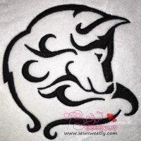 Wild Wolf-2 Embroidery Design