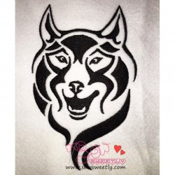 Wild Wolf-1 Embroidery Design