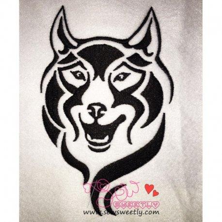 Wild Wolf-1 Machine Embroidery Design For Kids