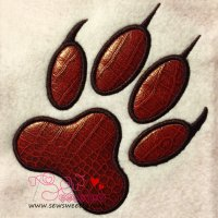 Wolf Paw Print Applique Design