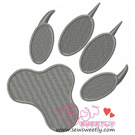 Wolf Paw Print Embroidery Design Pattern- Category- Animals Designs- 1