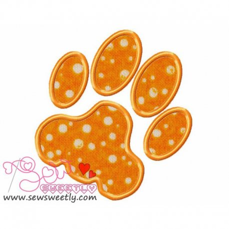 Dog Paw Print Applique Design Pattern- Category- Animals Designs- 1