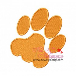 Dog Paw Print Embroidery Design
