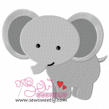 Cute Elephant Embroidery Design For Kids And Animal Lovers