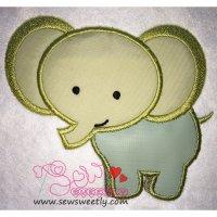 Cute Elephant Applique Design