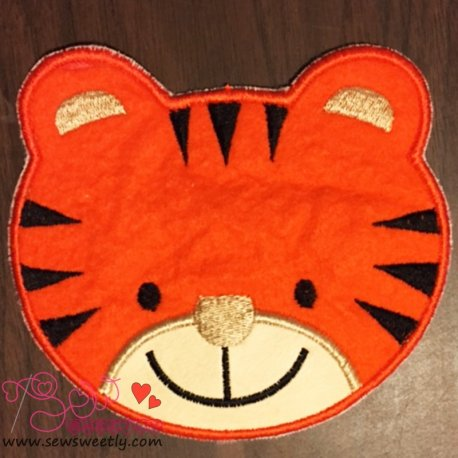 Cute Tiger Face Applique Design For Kids And Animal Lovers