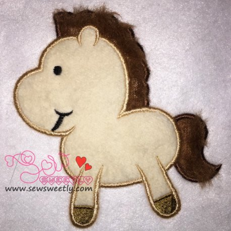 Cute Horsy Applique Design For Kids And Animal Lovers
