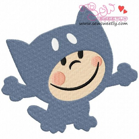 Cartoon Cat Boy Machine Embroidery Design For Kids