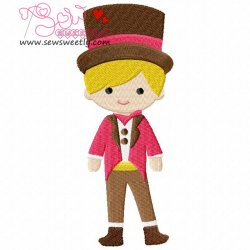 Circus Boy Machine Embroidery Design For Kids