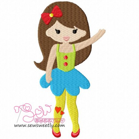 Circus Girl Machine Embroidery Design For Kids