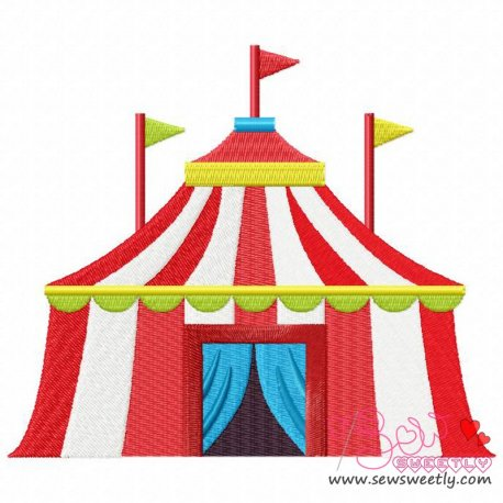 Circus Tent Embroidery Design Pattern- Category- Cartoons And Kids Designs- 1