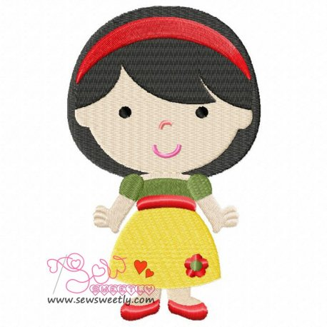 Classic Princess-4 Machine Embroidery Design For Kids