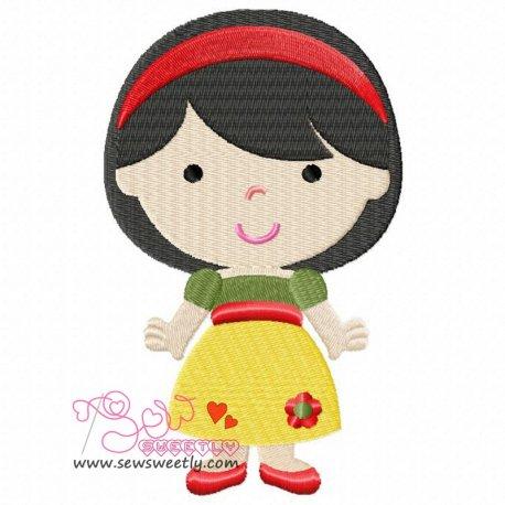 Classic Princess-4 Machine Embroidery Design For Kids