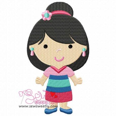 Classic Princess-5 Machine Embroidery Design For Kids