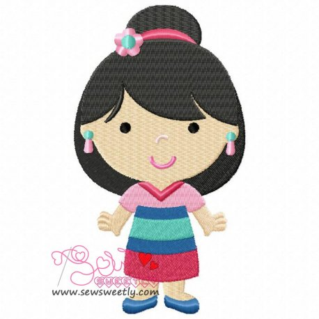 Classic Princess-5 Machine Embroidery Design For Kids
