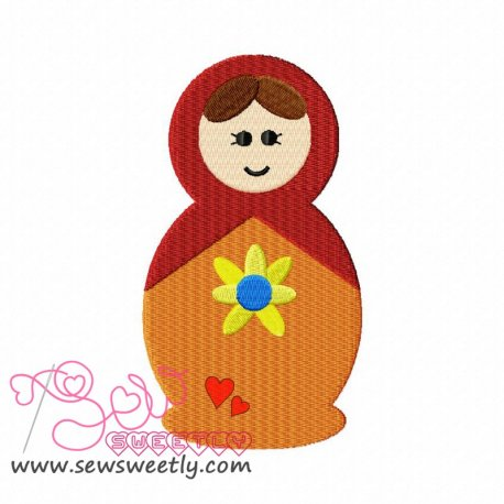 Doll-1 Machine Embroidery Design For Kids