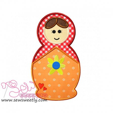 Doll-1 Machine Applique Design For Kids And Babies