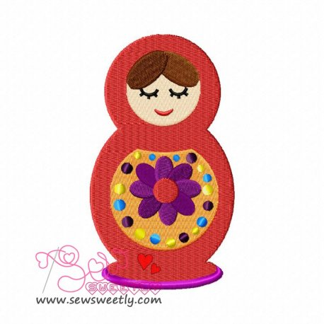 Doll-2 Machine Embroidery Design For Kids