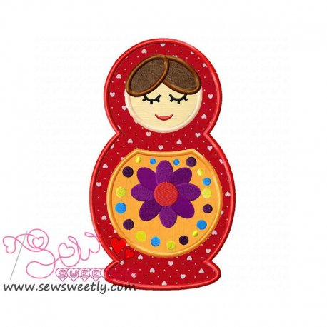 Doll-2 Applique Design Pattern- Category- Cartoons And Kids Designs- 1