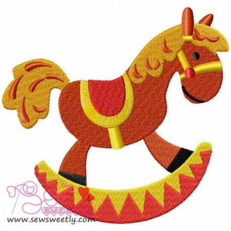 Rocking Pony Machine Embroidery Design For Kids