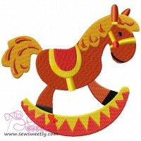 Rocking Pony Embroidery Design