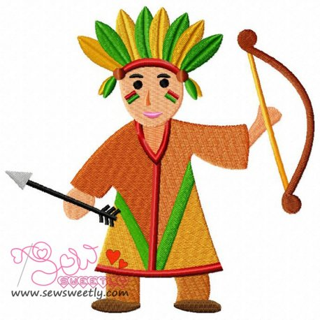 Indian Boy Embroidery Design Pattern- Category- Cartoons And Kids Designs- 1