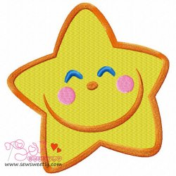 Smiling Little Star Embroidery Design