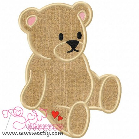 Teddy Bear Machine Applique Design For Kids And Babies