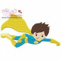 Super Hero-1 Embroidery Design
