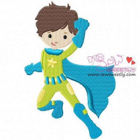 Super Hero-2 Machine Embroidery Design For Kids